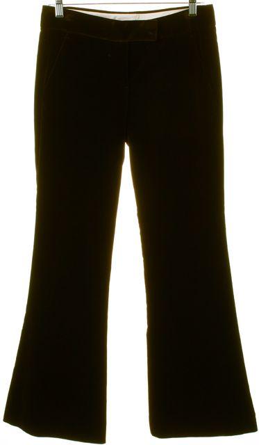 THEORY Dark Brown Velvet Flare Pants