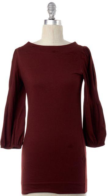 THEORY Brown Long Sleeve Basic Top