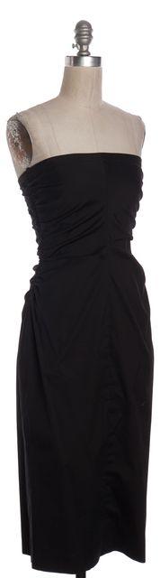 THEORY Black Strapless Sheath Dress
