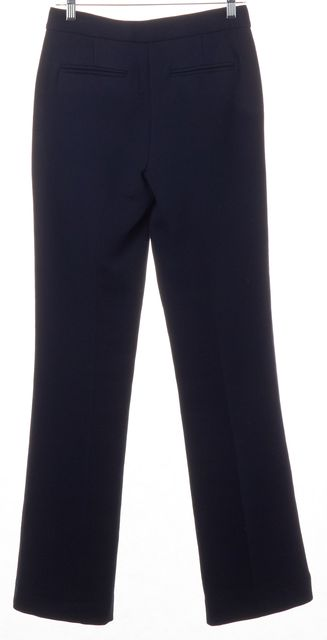 THEORY Navy Blue Wide Leg Trousers Pants