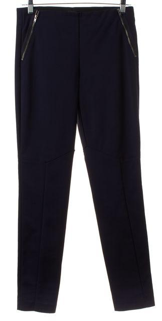 THEORY Navy Blue Side Zip Leggings
