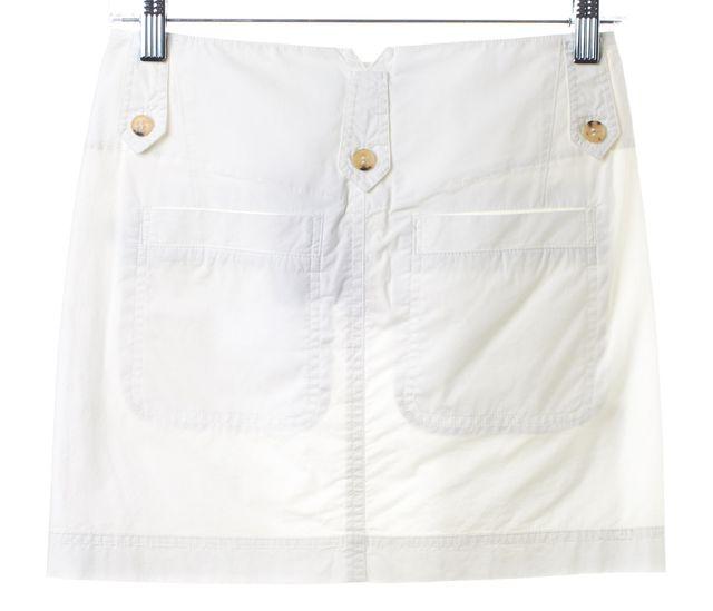 THEORY White Linen Mini Skirt