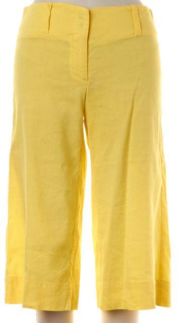 THEORY Yellow Linen Bermuda Shorts