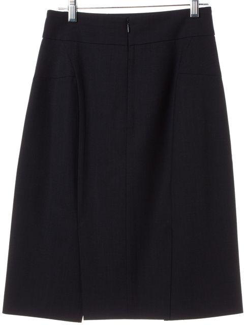 Tory Burch Black Wool A-Line Skirt   Material World