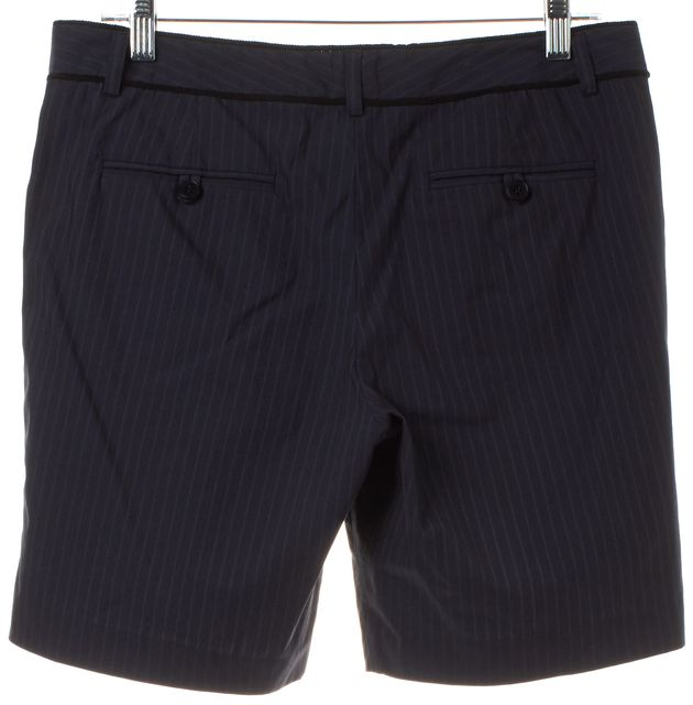 THEORY Blue Pinstriped Trouser Shorts