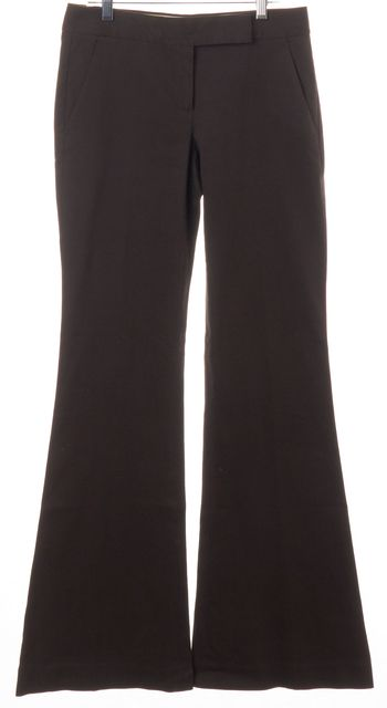 THEORY Brown Flare Trousers Pants