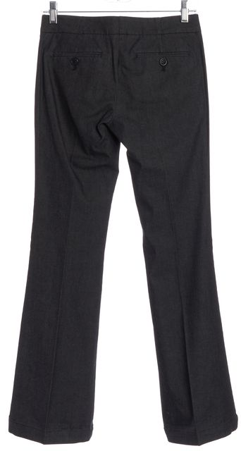 THEORY Gray Flare Trousers Pants