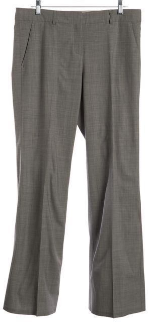 THEORY Gray Wool Straight Leg Dress Pants