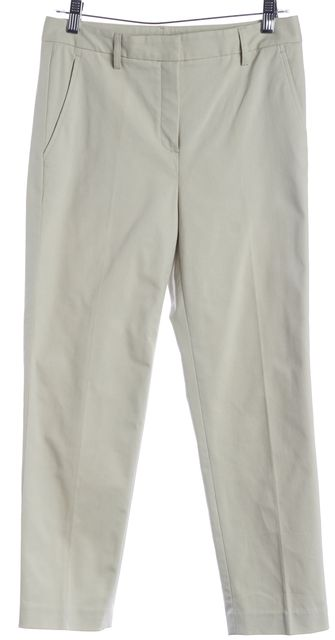 THEORY Beige Capri Trousers Pants