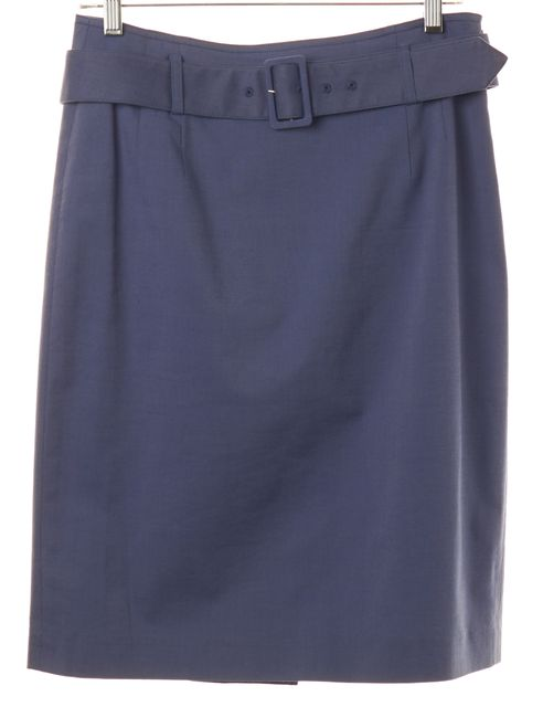 THEORY Blue Belted Pencil Skirt