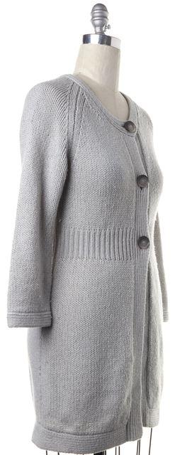 THEORY Gray Wool Long Cardigan