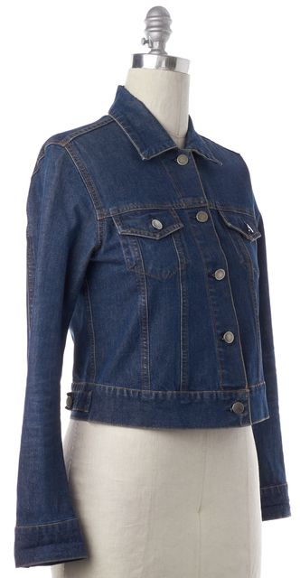 THEORY Blue Button Down Jean Jacket