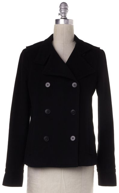 THEORY Black Wool Basic Coat