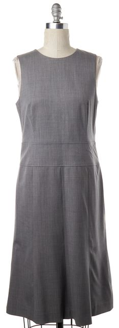 THEORY Gray Wool Sheath Dress