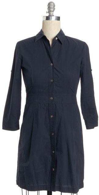 THEORY Navy Blue Button Down Shirt Dress