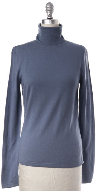 THEORY Light Blue Wool Long Sleeve Knit Top