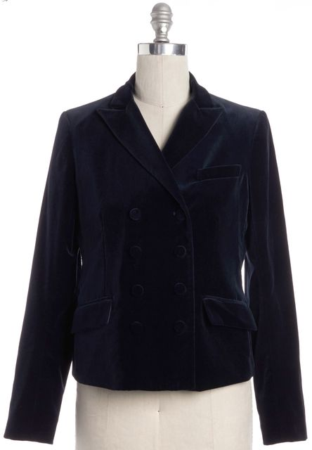 THEORY Teal Blue Velour Blazer
