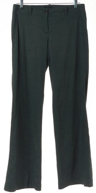 THEORY Green Linen Casual Pants