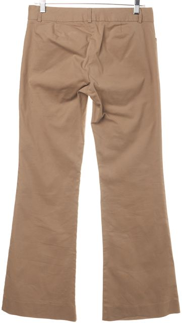 THEORY Beige Wide Legged Cotton Blend Trouser Dress Pants