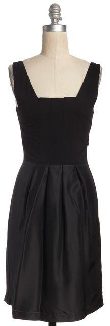 THEORY Black Pleated Sheath Dress