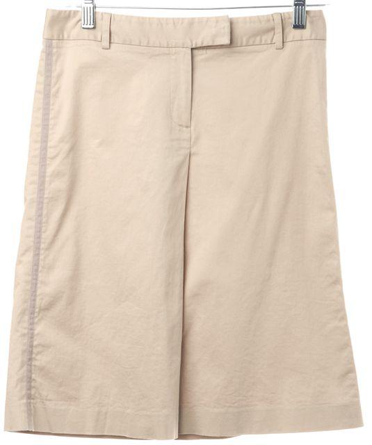 THEORY Beige A-Line Skirt