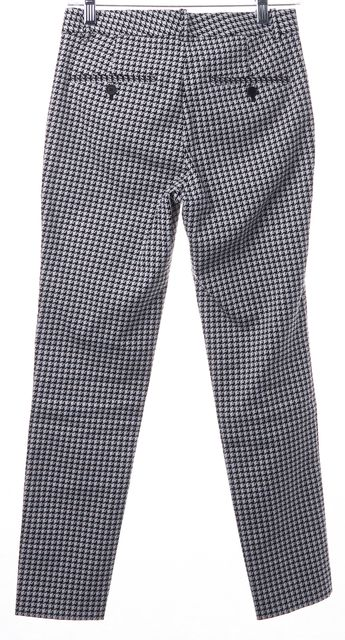 THEORY Black White Houndstooth Printed Trousers Pants