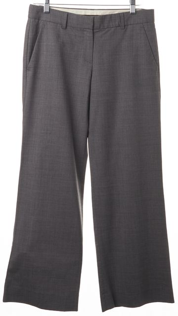 THEORY Light Gray Wide Leg Wool Dress Trouser Pants