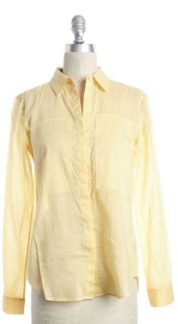 THEORY Yellow Button Down Shirt