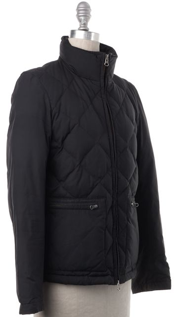 THEORY Black Quilted Puffer Jacket