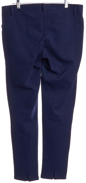 THEORY Navy Blue Casual Skinny Slim Fit Stretch Pants