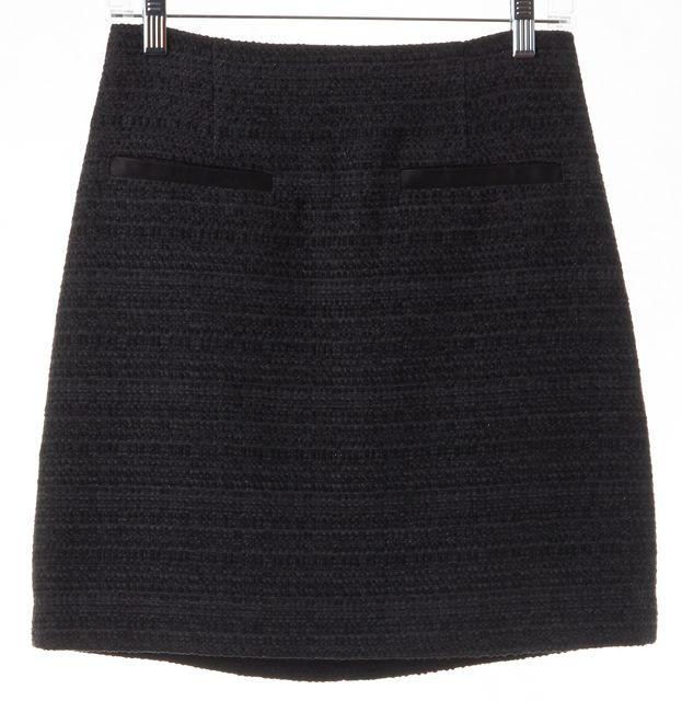 THEORY Gray Tweed Mini Skirt