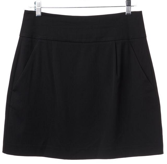 THEORY Black Wool Mini Skirt