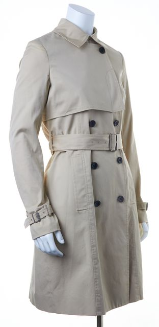 THEORY Beige Belted Trench Coat
