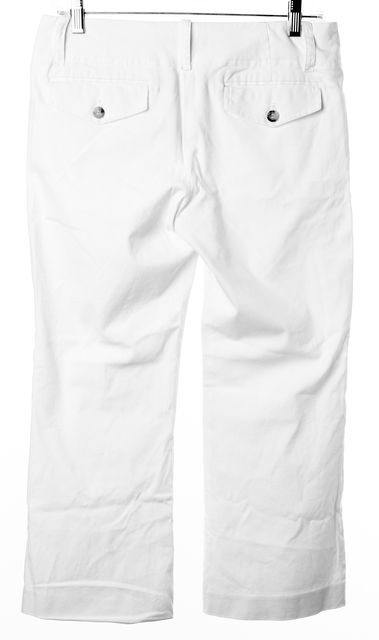 THEORY White Casual Relaxed Fit Flare Leg Capris, Cropped Pants