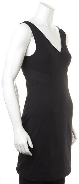 THEORY Black Cutout Back Sleeveless Bodycon Mini Dress
