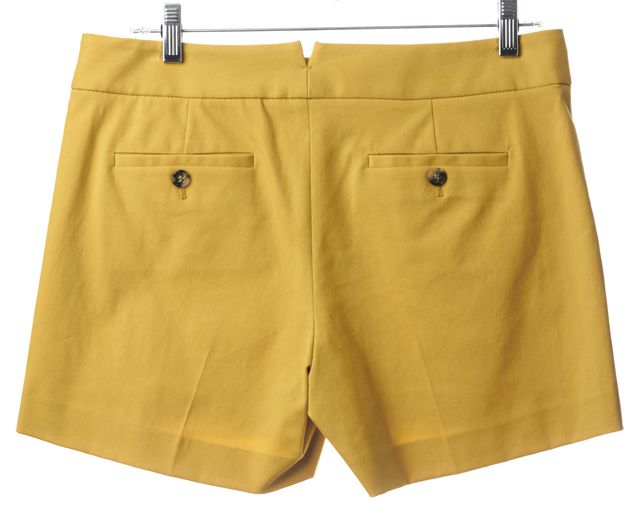THEORY Mustard Yellow Dress Shorts