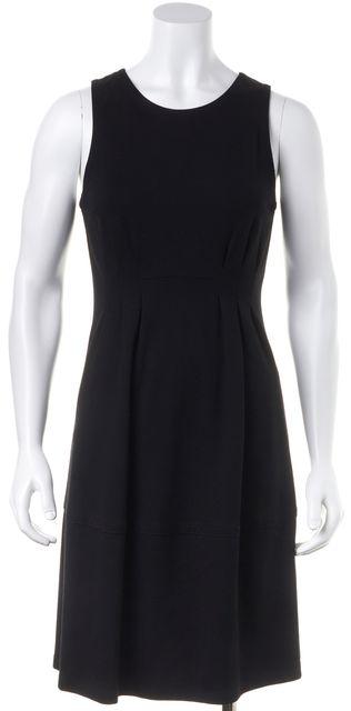 THEORY Black Pleated Knee Length Sheath Dress