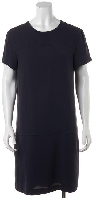 THEORY Navy Blue Short Sleeve Sheath Dress
