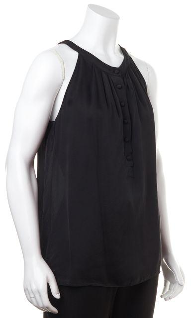 THEORY Black Silk Halter Top