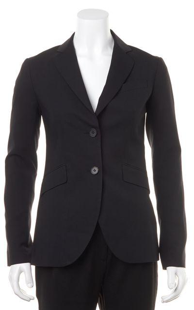 THEORY Black Wool Rex V Two Button Blazer
