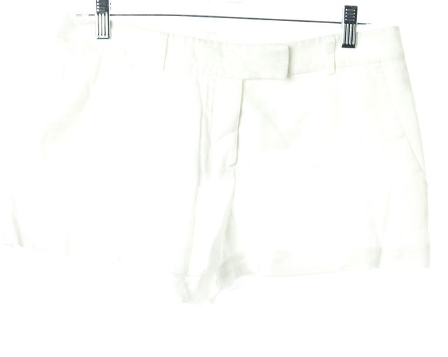 THEORY White Linen Casual Shorts
