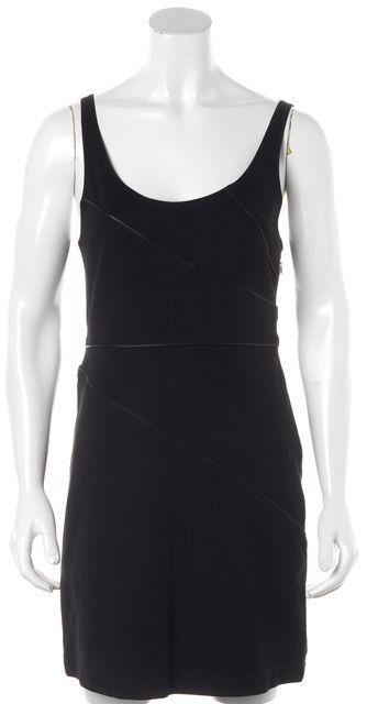 THEORY Black Zipper Detail Sleeveless Above Knee Sheath Dress