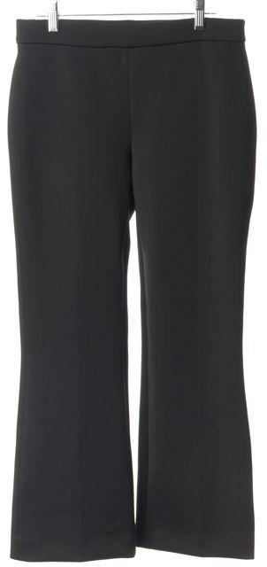 THEORY Black Casual Slim Fit Flare Leg Pants Career Leggings
