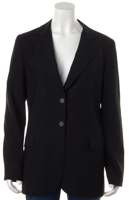THEORY Black Wool Pocket Front Double Button Blazer