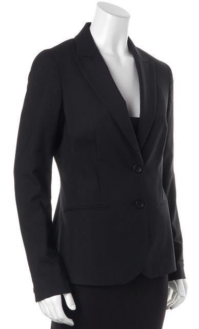 THEORY Black Broadway Wool Two Button Nichelle Blazer Jacket
