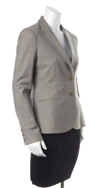 THEORY Brown Wool Two-Button Blazer Jacket
