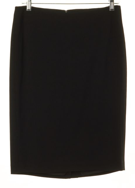 THEORY Black Wool Blend Knee-Length Pencil Skirt