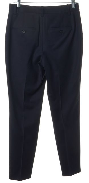 THEORY Navy Blue Wool Treeca 2 Continuous Cropped Dress Pants
