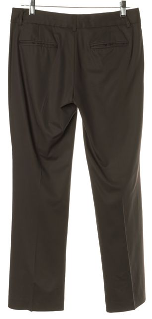 THEORY Brown Stretch Wool Trousers Dress Pants