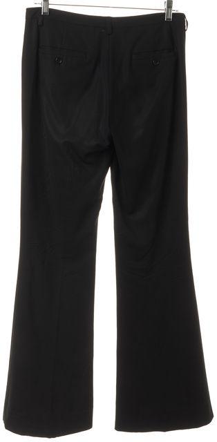 THEORY Black Pleated Wide-Leg Trouser Dress Pants